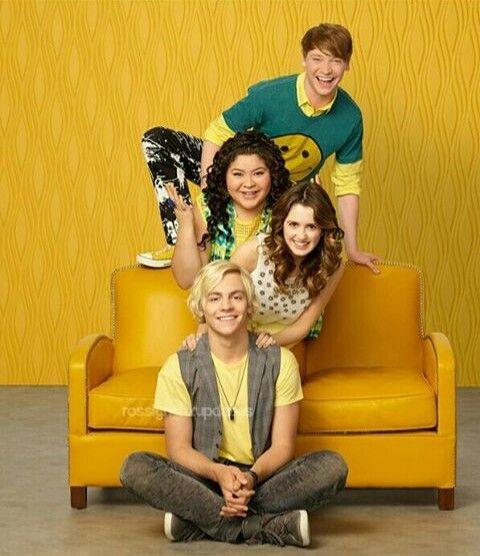 Austin and Ally, Dez and Trish. (Ross lynch, Raini rodriguez, Laura marano and Calum worthy).