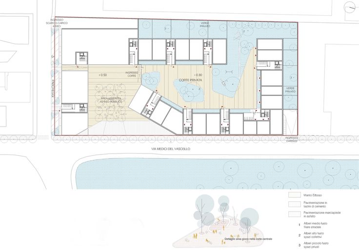 OPERASTUDIO - Project - Medici del Vascello 14 Social Housing #Milan #Ground floor plan