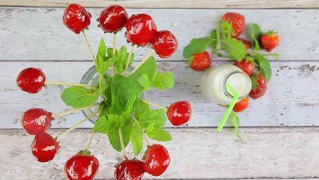 Kandierte Erdbeeren