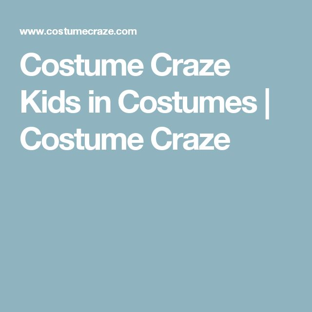 Costume Craze Kids in Costumes | Costume Craze