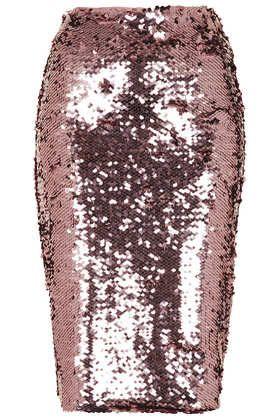 Pink Sequin Pencil Skirt #DearToPshop
