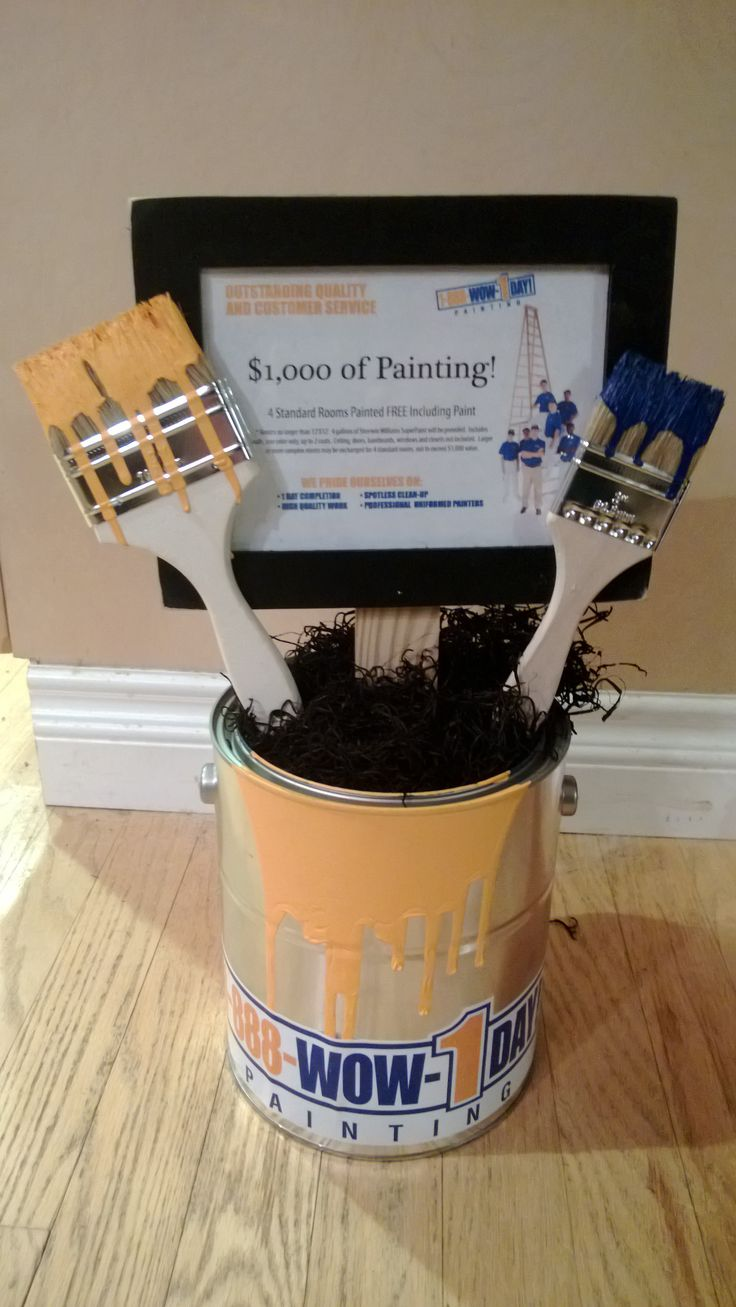Few people like to paint. Painting services can be very popular and profitable silent auction items!