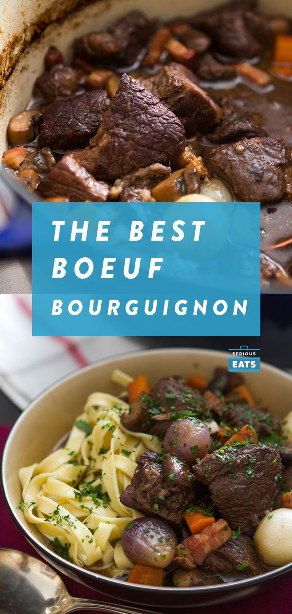 Boeuf Bourguignon Beef Stew With Red Wine Mushrooms And Bacon Recipe Recipe Meat Recipes For Dinner Recipes Halloween Food Appetizers