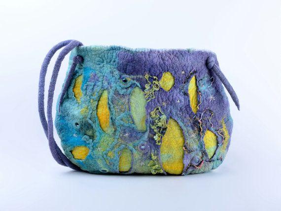 Цветная войлочная сумка войлок художественная сумка с от BlanCraft