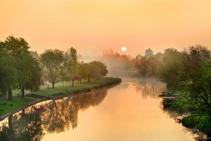 Mist over the Avon, St Nicholas Park, Warwick