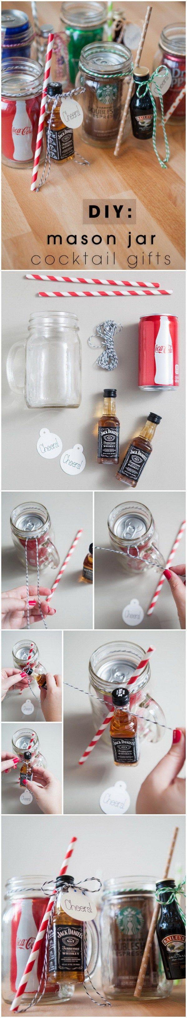 DIY Mason Jar Cocktail Gifts. These mason Jar cocktail gifts are a fun and thoughtful - yet inexpensive gifts for your family and friends! They can be truly savored by the recipient!