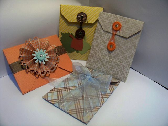 clasp envelopes made using envelope punch board