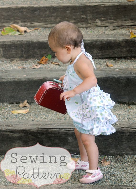 Rosy Romper Size 3/6 months to Size 3T PDF by sewsweetpatterns, $6.00Size 3T, Size 3 6, Rosie Infants, 3 6 Month, Pdf Sewing, Girls Pattern, Rompers Pdf, Sewing Patterns, Infants Rompers