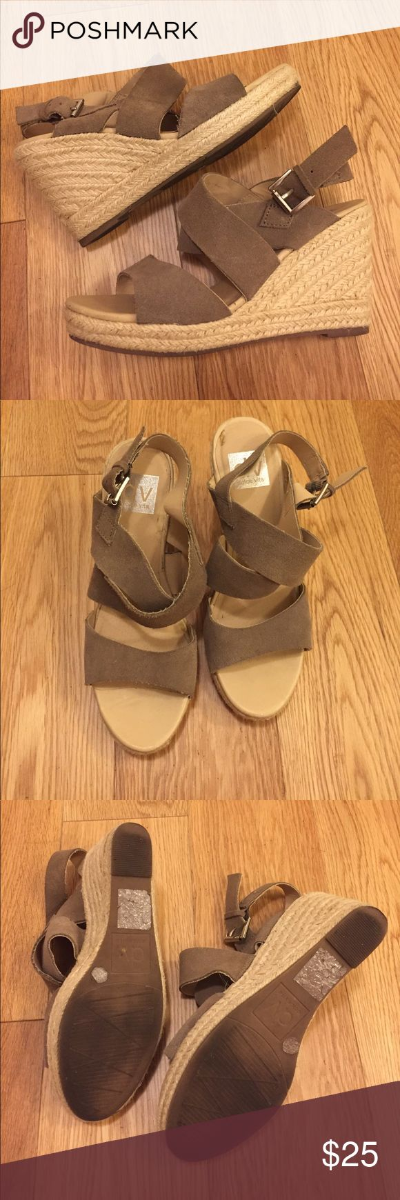 "DV Dolce Vita nude espadrilles wedge 4"" strapping tan nude wedge. Worn a few times DV by Dolce Vita Shoes Espadrilles"
