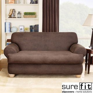 @Overstock.com - Sure Fit Stretch Faux Leather 2-piece T-cushion Sofa Slipcover - Relax in style with this 2-piece Stretch T-Cushion sofa slipcover from Sure Fit. The faux leather fabric, solid color pattern and stretch design will make your favorite seat in the house even better.   http://www.overstock.com/Home-Garden/Sure-Fit-Stretch-Faux-Leather-2-piece-T-cushion-Sofa-Slipcover/6470288/product.html?CID=214117 $149.99