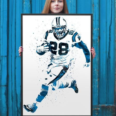 Jonathan Stewart poster. Stewart is an American football running back for the Carolina Panthers of the National Football League (NFL). He was selected by the Panthers in the first round (13th overall)