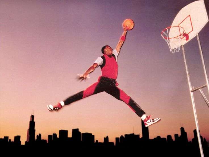 Original 1984 Air Jordan Jumpman Photo Shoot that resulted in the famous logo.