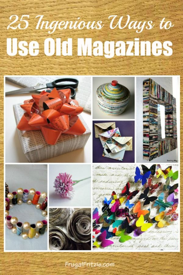 A fun list of 25 Creative Ways to use Old Magazines from FrugalFritzie.com