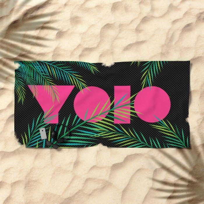 YOLO 2.0 Beach Towel by REALITY Studios   Society6