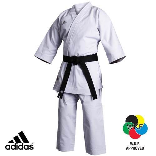 adidas K460J KARATE UNIFORM - WKF Approved is a Karate kimono for kata in competition, approved by WKF which means World Karate Federation. Quality product.