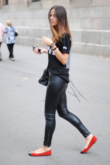 Leather leggings/pants