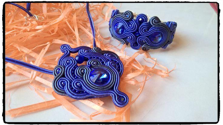 Dark Blue soutache set :-)
