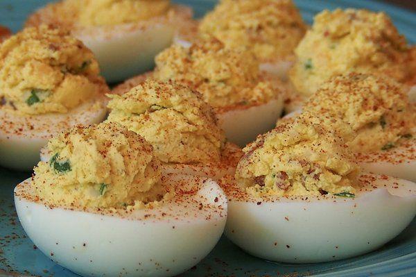Loaded Deviled Eggs (No Mayo)