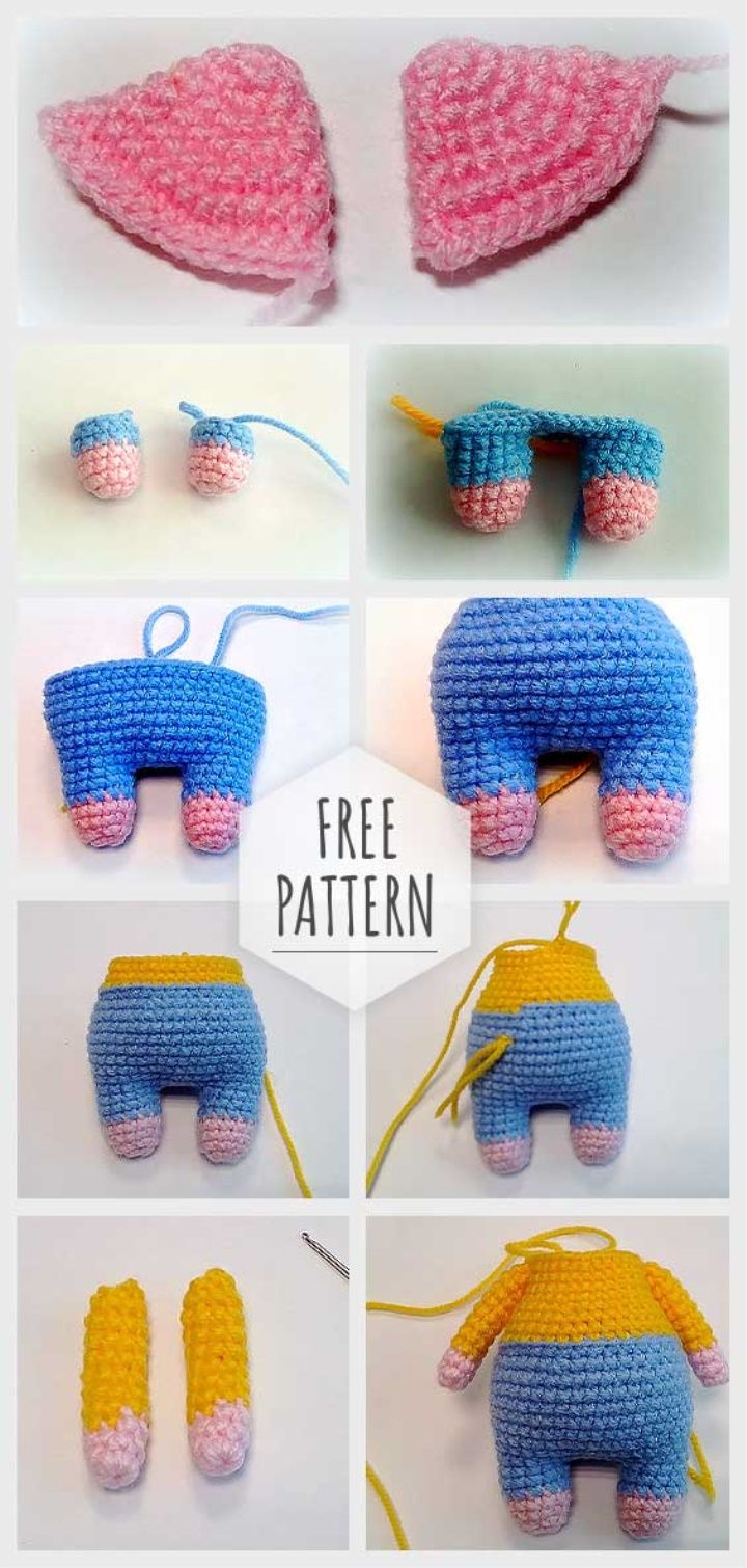 Amigurumi Cool Piggy Free Pattern | Amigurumis | Amigurumi, Tejidos ...