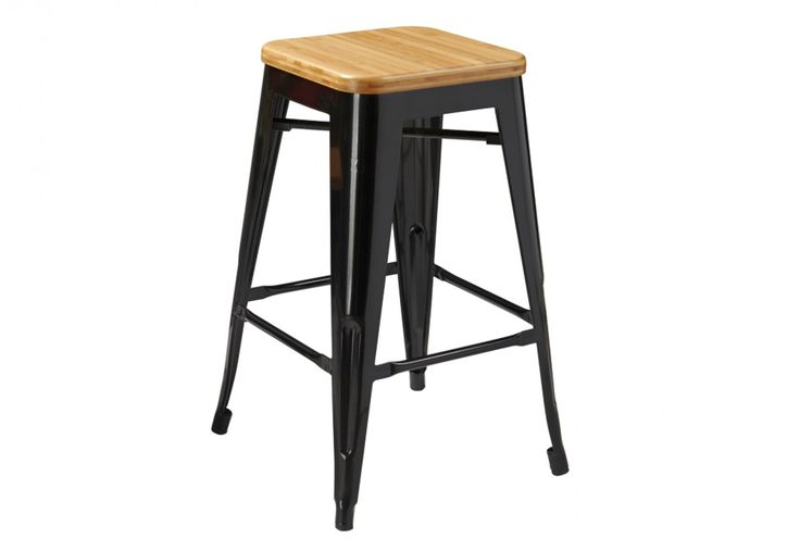 Rocket 66cm Stool with Bamboo Seat | Super A-Mart