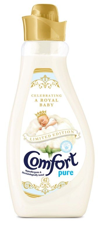 Packaging tributes to the royal birth have kicked off with new limited edition packs from Unilever brands Persil and Comfort