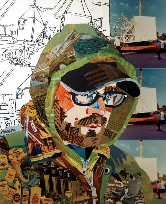 Self Portrait Collage From Magazines | Blue Collar Self Portrait