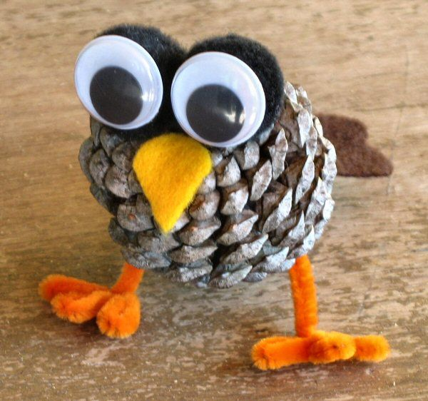 Create a cute pine cone owl that the kids can decorate and personalize. First, make sure they got home safely from school with #Chamberlain #MyQ