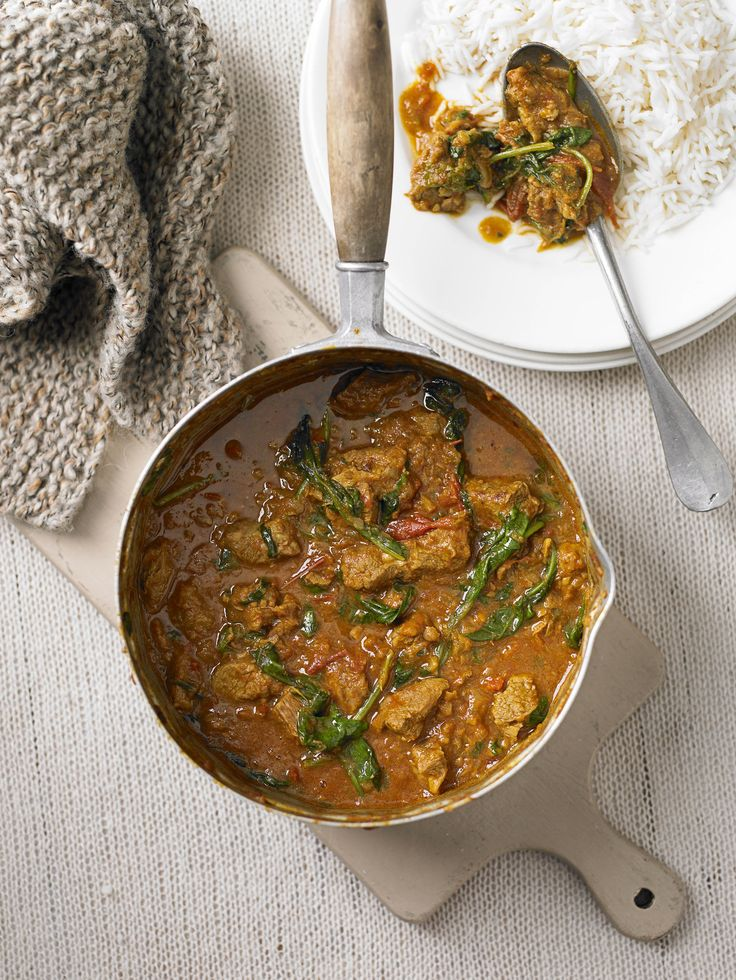 Lamb and spinach curry: A classic lamb and spinach Indian curry – this would make a great economical, and much tastier, alternative to a Friday night take away. Serve with rice or naan.
