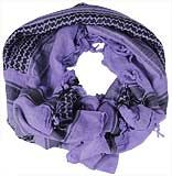Patterned Purple Shemagh Scarf - $12.85 at The Purple Store