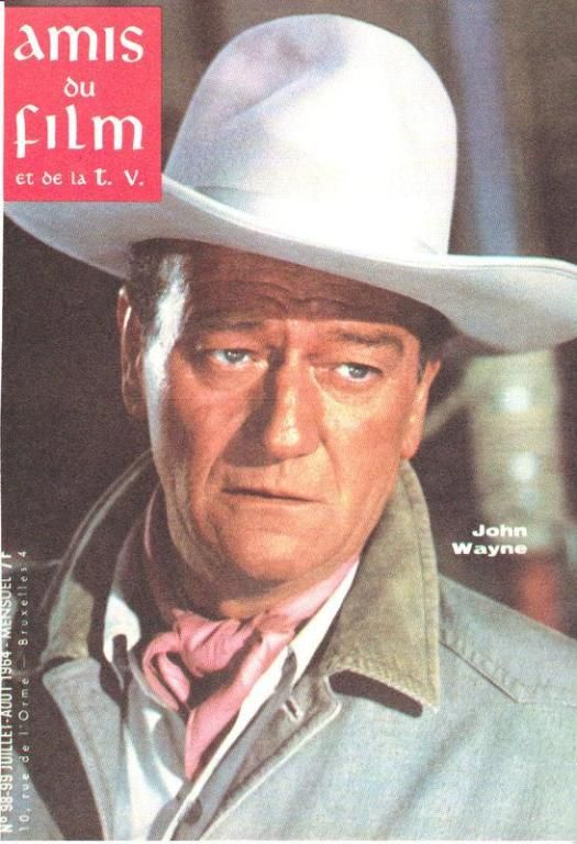 1964 JOHN WAYNE PICTURE -ORIGINAL FIRST PAGE OF A FRENCH MAGAZINE