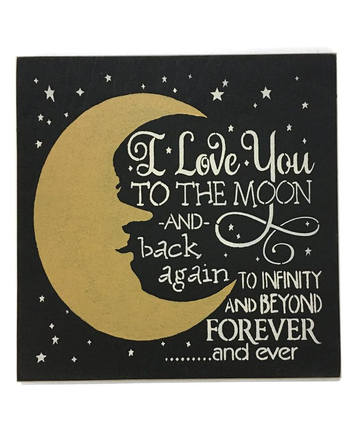 Look at this #zulilyfind! Black 'I Love You to the Moon & Back' Wood Wall Sign by Sara's Signs #zulilyfinds