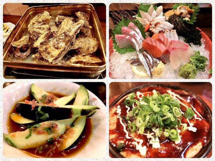 ☆共和AMELグルメ☆  広島の美味しいお魚と牡蠣とお酒を 味わいたい!という事で海平商店に 足を運びました! 店内はレトロな網小屋のようで、お刺身が 美味しそうだなと期待を 高めさせてくれます。  まずはお刺身どっさり盛(1,580円) を注文。 新鮮なお魚が美味しいです!! 奥の白いお刺身はなんと穴子の刺身! 穴子の名産地広島県ならではの メニューですね。 身は白く透明感があり、あっさりしている のかと思いきや少し脂が乗っていて旨みの あるお味です。 穴子って焼いたり揚げたりする印象でしたが お刺身も美味しいのですね!  牡蠣のねぎ焼きも注文。 生地がモチ・ふわ~っとしていて不思議な 食感です。 その正体はなんと山芋! 山芋のとろとろ感が独特の食感を作り上げて いたのですね。 小麦粉ではなく山芋なので、 軽く召し上がれます。 ソースも美味しく、鉄板の上でいつまでも 熱く美味しかったです。 ねぎもたくさん乗っていて香りがよく、 大粒の牡蠣も顔を出します。 またその牡蠣がぷりっとふっくらとしていて、 とても濃厚なお味です。