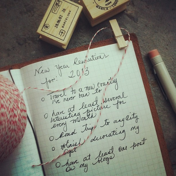 What's your New Year's resolution? #newyear #resorshop #2013 #travelersnotebook #journal #newyearsresolution by Rësor Shop, via Flickr