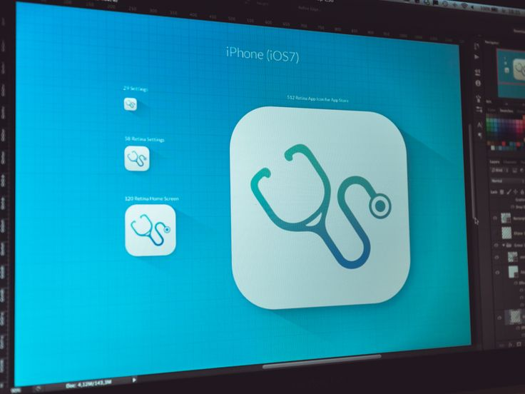 Doctor icon - for iOS7 App (redesign) by Konrad Księżopolski for EL Passion