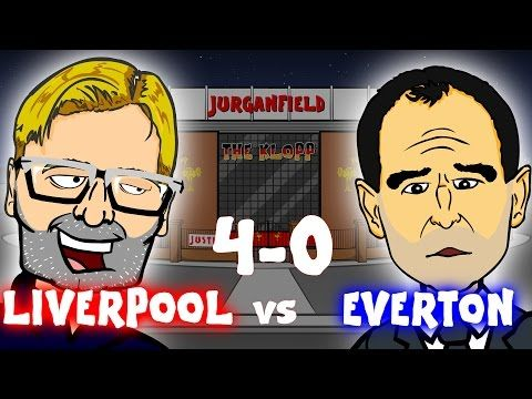 Liverpool 4  Everton 0 turned into a cartoon spoof Jurgen Klopp raps like Will Smith (Video)
