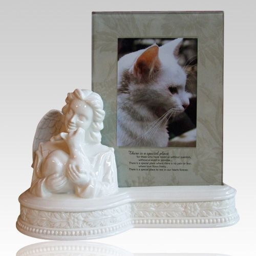 The Angel Amp Cat Picture Frame Urn Is Crafted From Fine