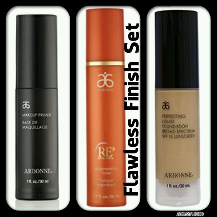 The makeup artists secret is out on flawless skin!!! Using a primer then the RE9 toner followed by your foundation will create a flawless finish! kendallboyer.arbonne.com