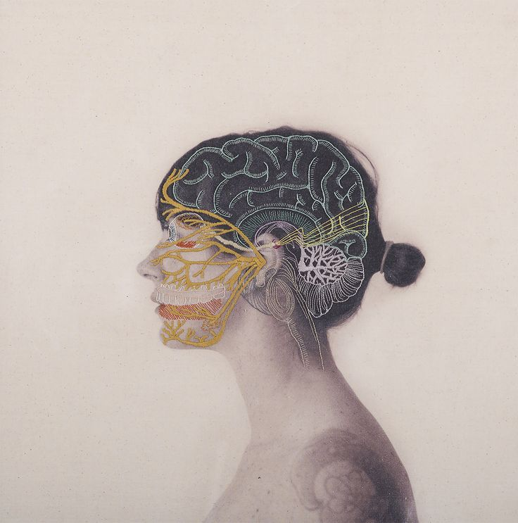 Intricately Embroidered Self-Portraits Explore Anatomy and Physics