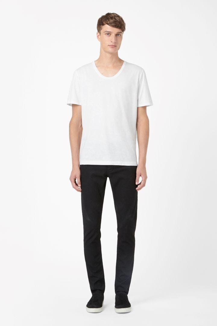 COS   Deep round-neck t-shirt