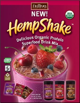 Shake, Nutiva, $8, high source of protein, no cholesterol, no allergies, and a good source of fiber
