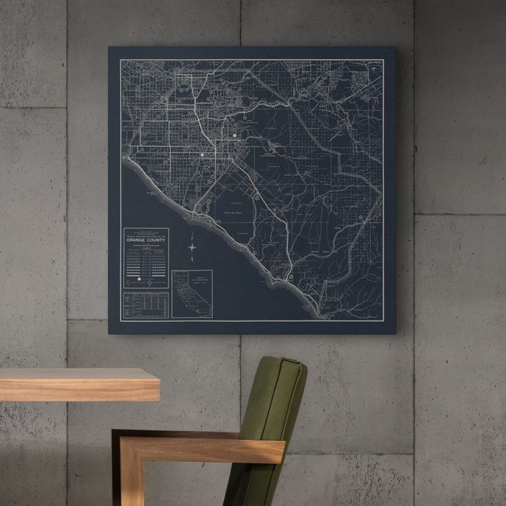California Map Interactive%0A Orange County California Map Fine Art Print by DesignOutfitters
