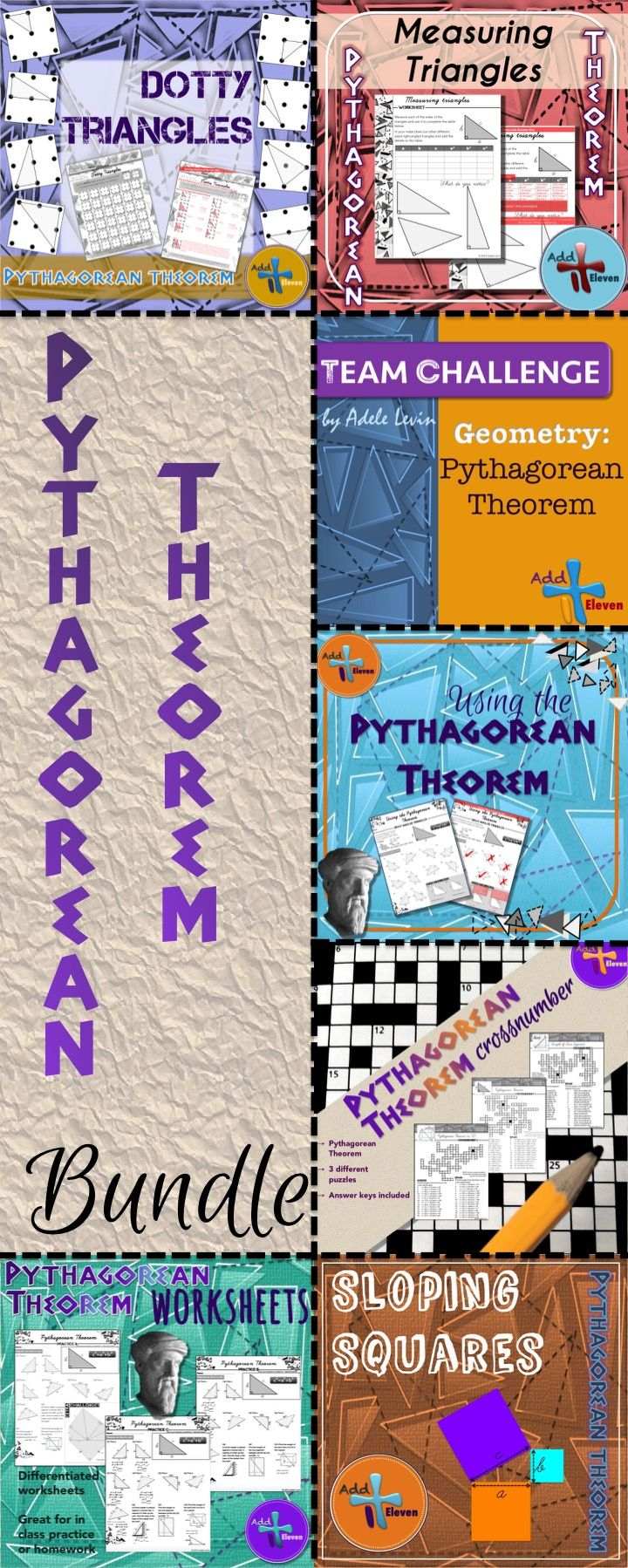 Bundle of Pythagorean Theorem tasks