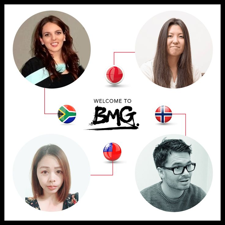 We believe the best ideas come from a diverse global #team. We welcome our new colleagues at BMG:  #norway #japan #taiwan #southafrica. #GoGlobal #Diversity #BMG2018 #TeamWork