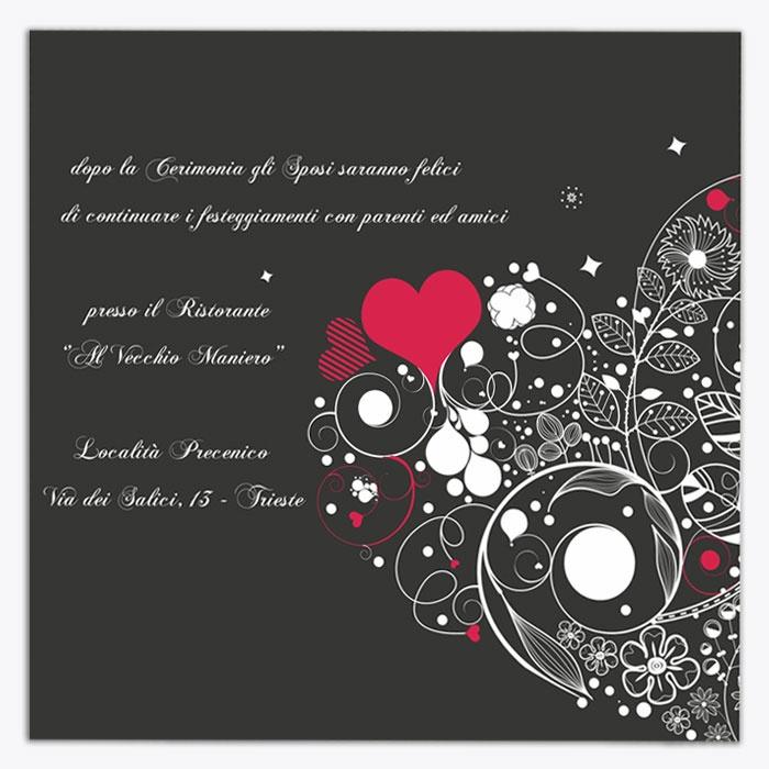 """Invito di matrimonio """"Rosso e Nero"""""""