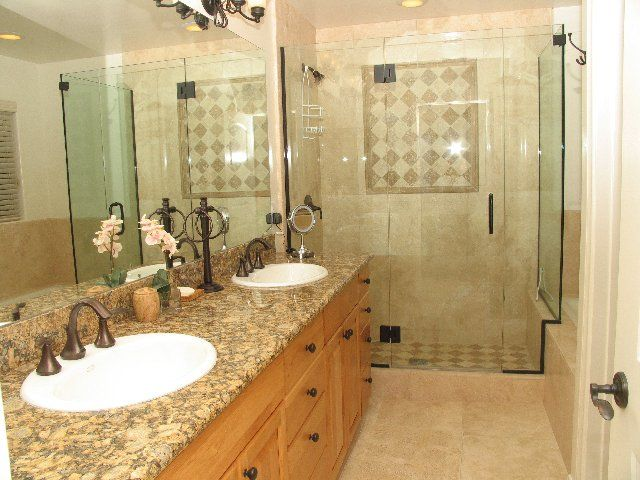 82 best images about home bathroom long narrow on for Long narrow master bathroom layout