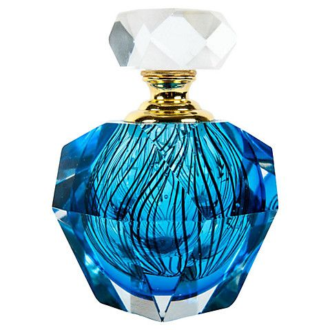 Murano Glass Blue Perfume Bottle $395.00