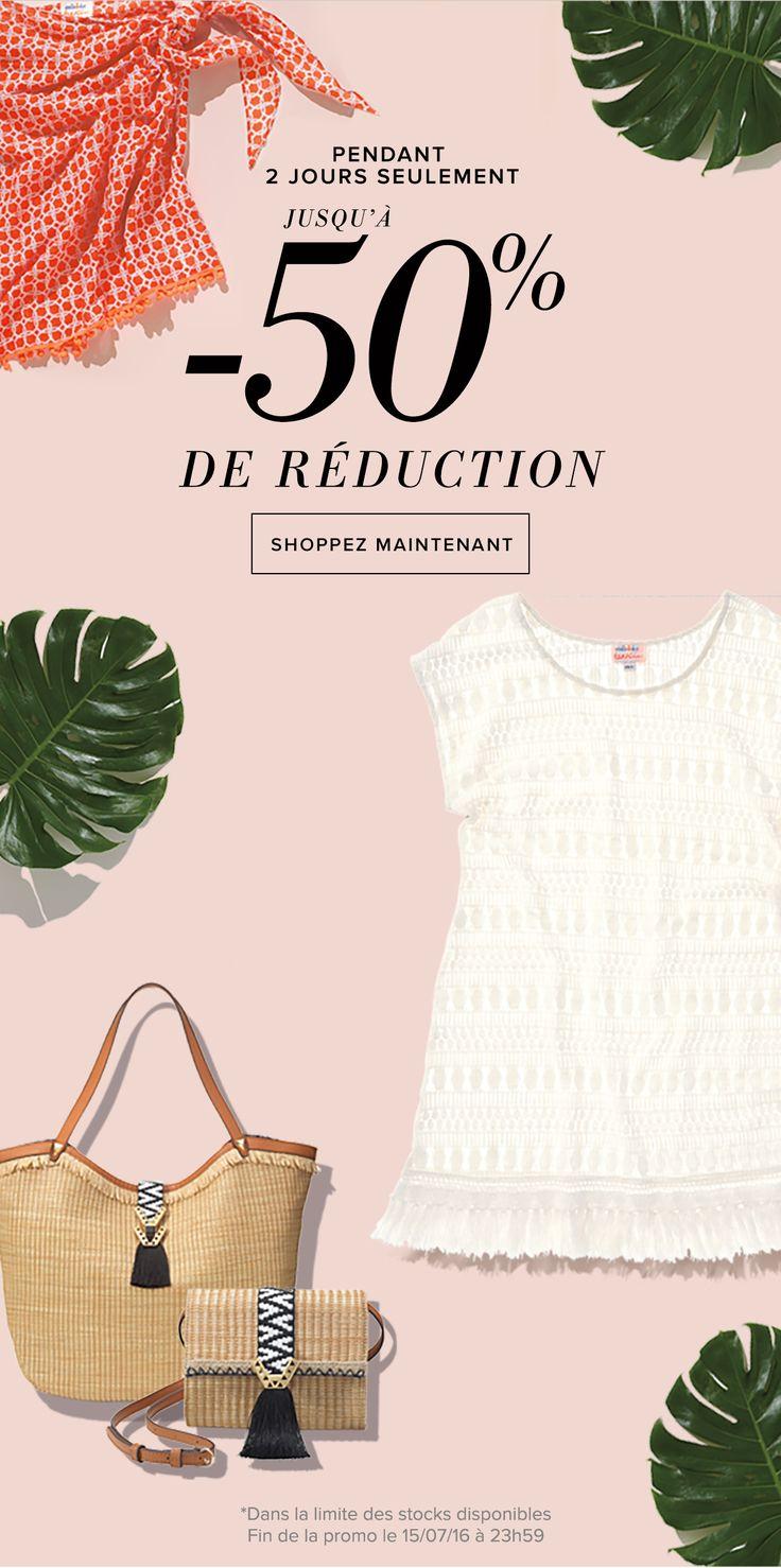 Profitez !!! Pour 2 jours seulement, des promotions exceptionnelles sur vos accessoires plage !!!! A shopper dès maintenant sur www.stelladot.fr/zabou du 14 au 15 juillet 2016 #zabou #stelladot #stelladotstyle #soldes #petitsprix #prixdoux #summer #été #bijoux #mode #accessoires