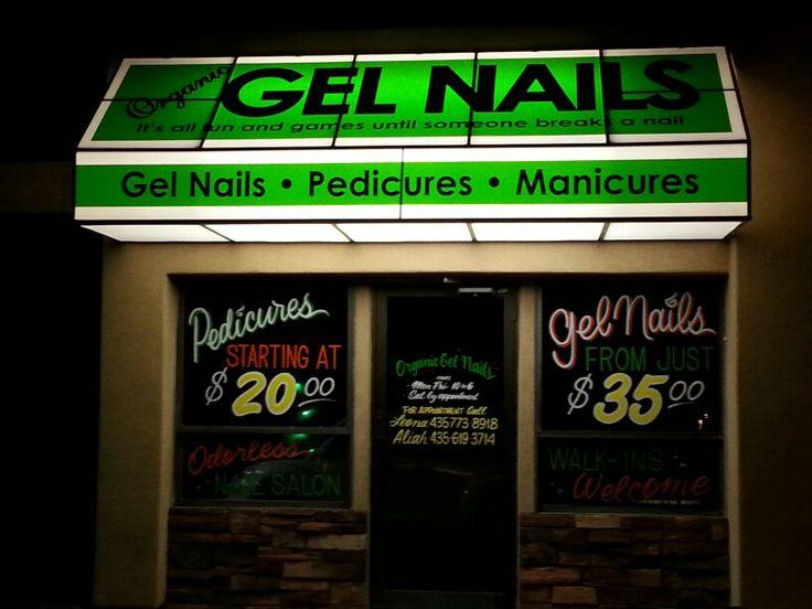 Organic Gel Nails our salon in Washington Utah we are a odorless nail