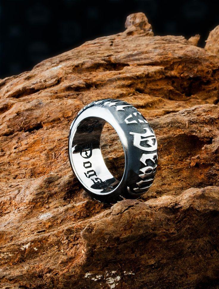 Dogstone London - Men's Death Before Dishonour Sterling Silver Barrel Ring, £325.00 (http://www.dogstonelondon.com/products/death-before-dishonour-barrel-ring.html)
