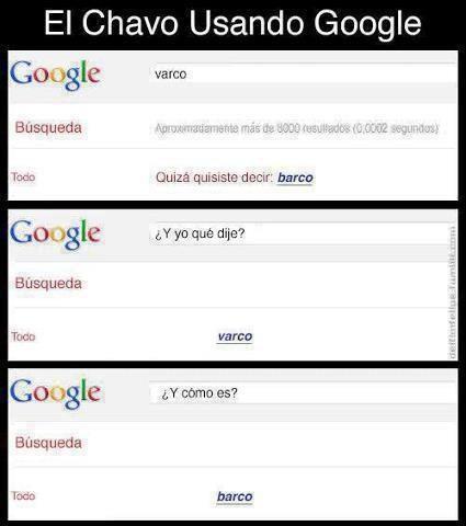 El chavo usando google